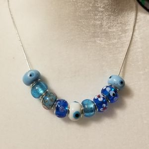 Murano Italian Glass Beaded Necklace